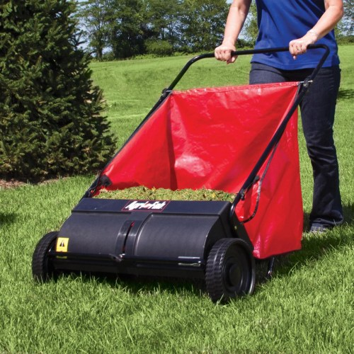 Medium Crop Of Push Lawn Sweeper