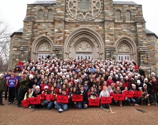 Benedictine College's pro-life group at Nativity Parish in D.C.