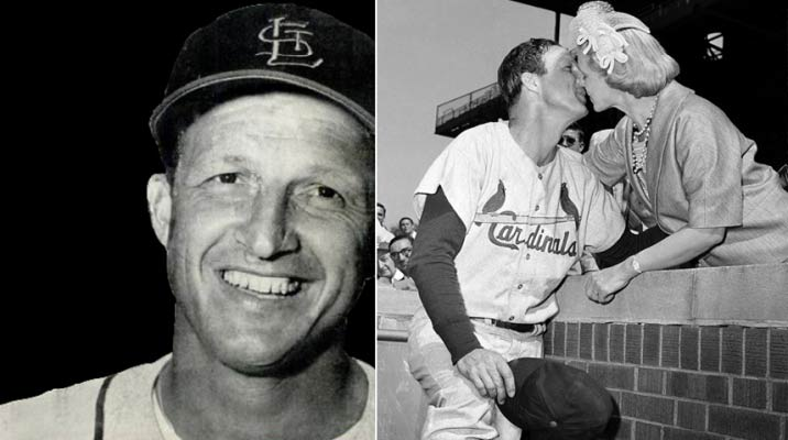"""Stan Musial (1920- ), devout Catholic, one of the greatest baseball players ever, married to Lillian for 72 years. Cardinal Timothy Dolan praised his life """"jam-packed with phenomenal baseball achievements"""" and free from scandal."""