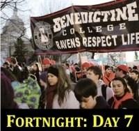 Benedictine College students in Washington, D.C.