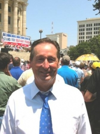 President Stephen D. Minnis at Topeka's Religious Freedom Rally.