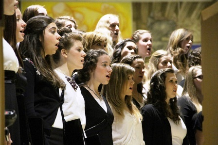 December 9, Lessons and Carols: Student singers and faculty, staff and administration presented the traditional Advent ceremony in preparation for Christmas.