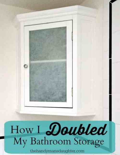 How I Doubled My Bathroom Storage - The Handyman's Daughter