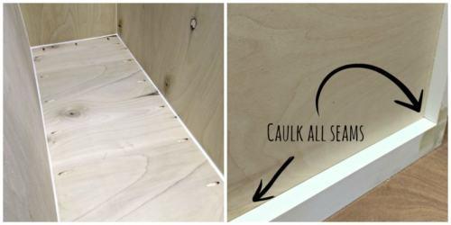 caulk all inside and outside seams