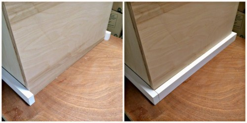 wood trim before and after