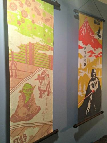 Star Wars in Japan wall hangings are a great geeky souvenir