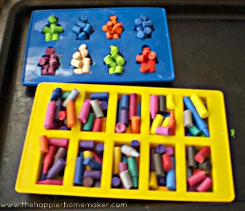 making lego crayons