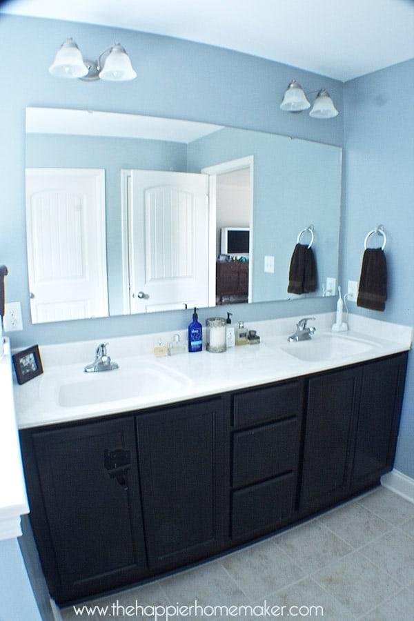 diy frame bathroom mirror molding