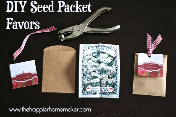 diy seed packet favors