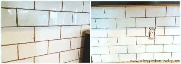 subway tile grout color change