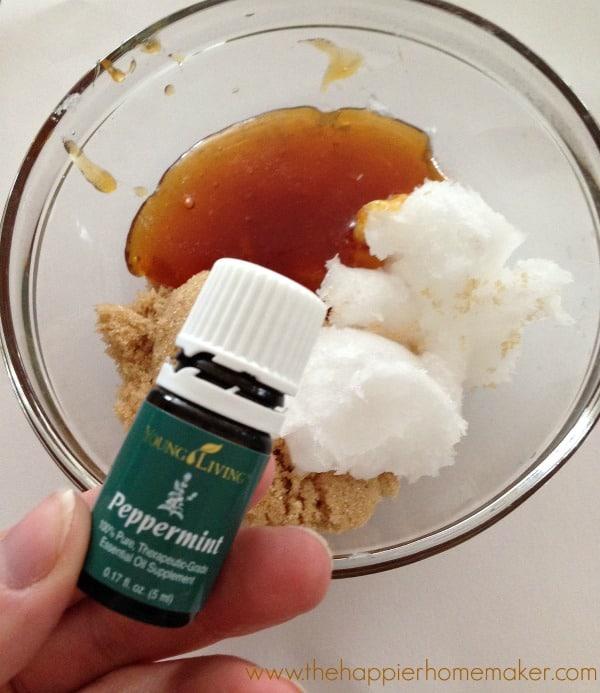 how to make lip scrub essential oils