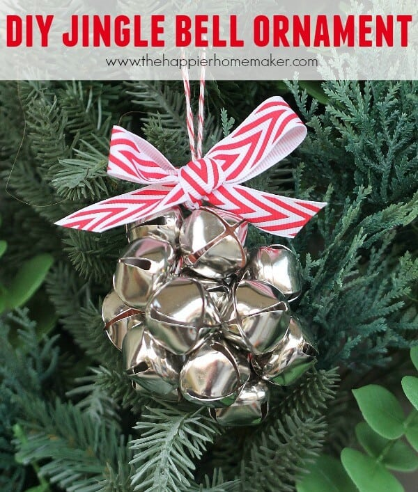 Diy jingle bell ornament the happier homemaker for Jingle bell christmas ornament crafts