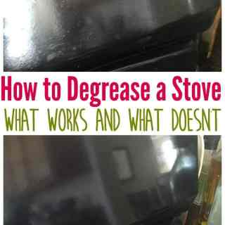 How to really clean and degrease a stove-she tried a ton of tips and tricks from Pinterest and reported on what worked and what didn't!