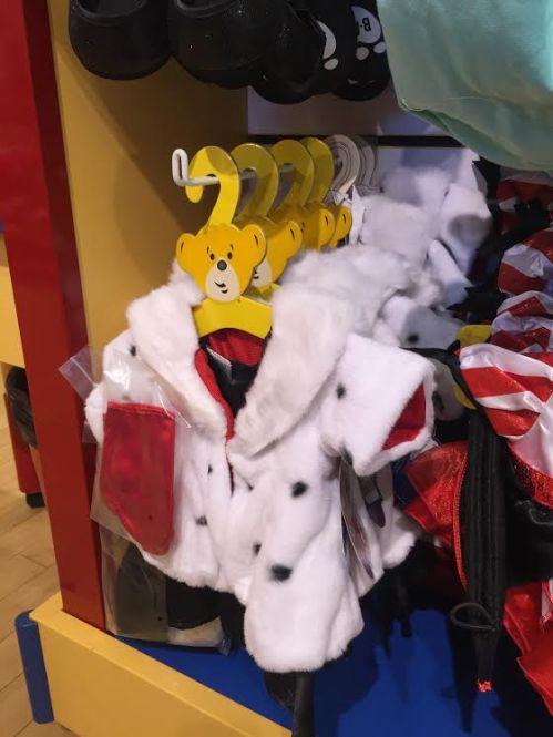 Cruella De Vil dress up at Downtown Disney's Build-A-Bear Workshop.