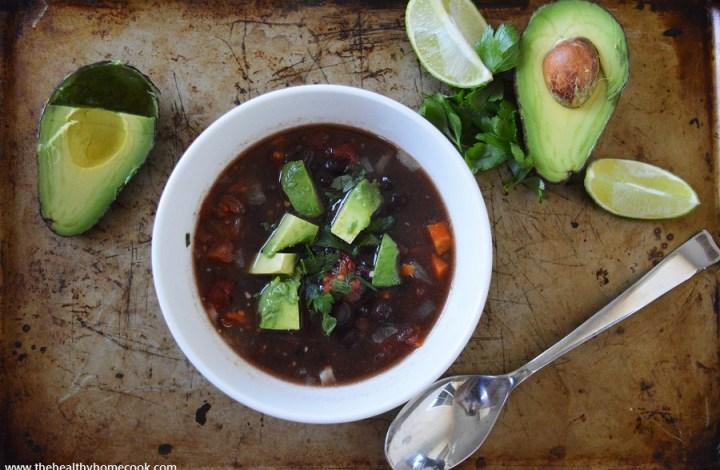 {Slow Cooker} Smokey Black Bean Soup