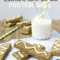 No-Bake Cinnamon Roll Protein Bars