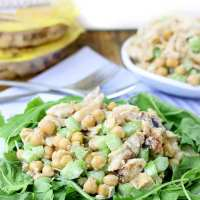 Honey Garlic Chicken Chickpea Salad + A Protinis Giveaway!