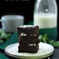 Peppermint Black Bean Brownies