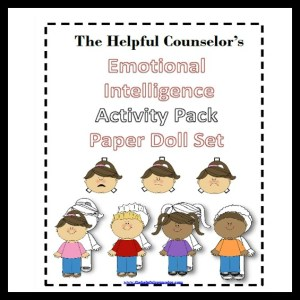 Emotional Intelligence Paper Doll Elementary Counselor Activity