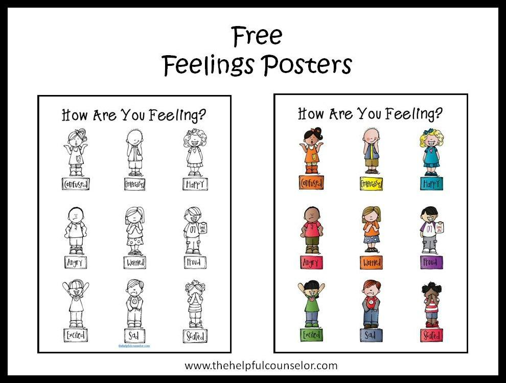 Free Feelings Posters Emotional Intelligence
