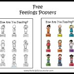 Free Feelings Poster and Coloring Page