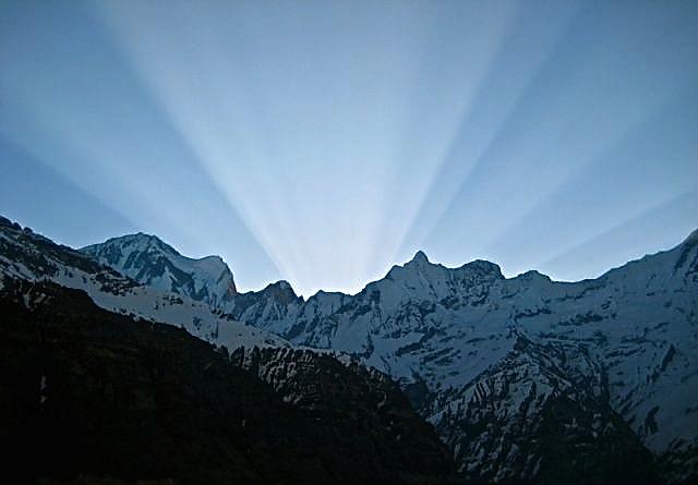 Sunrise over Annapurna Sanctuary, 2008