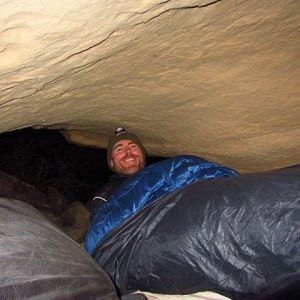 Bedded down in a cave just north of Youngs Canyonhellip