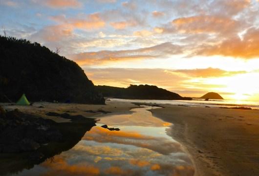 Sunset at Evans Creek | SW Tasmania Traverse