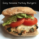 Easy Sesame Turkey Burgers