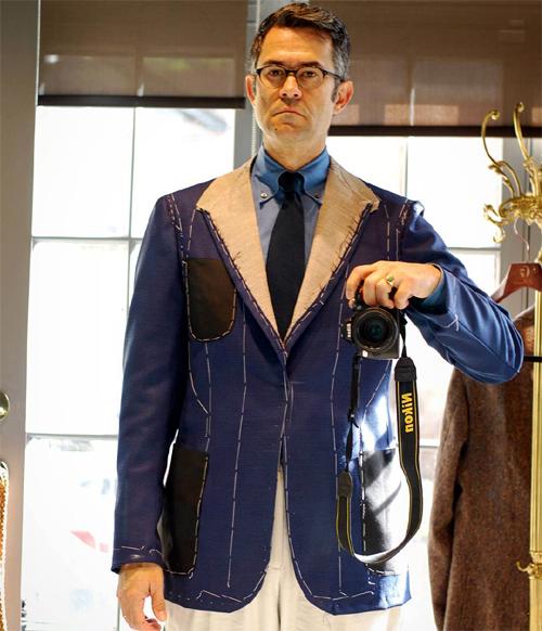 First fitting of my Francesco Sr. sport jacket.