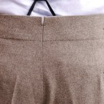 The back of my new trousers, which feature a pocket placed close to the side seam.