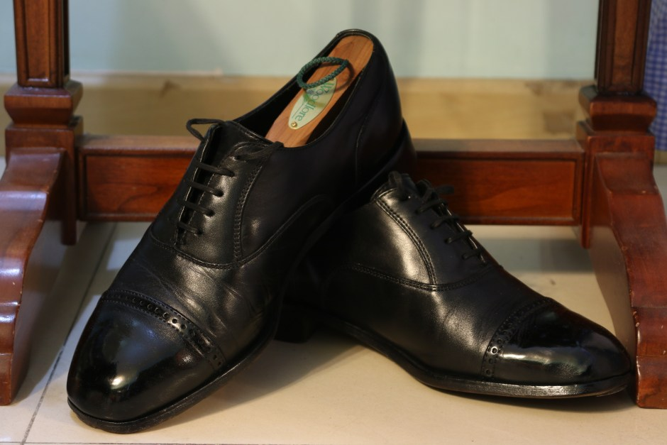 Florsheim oxfords after the shine