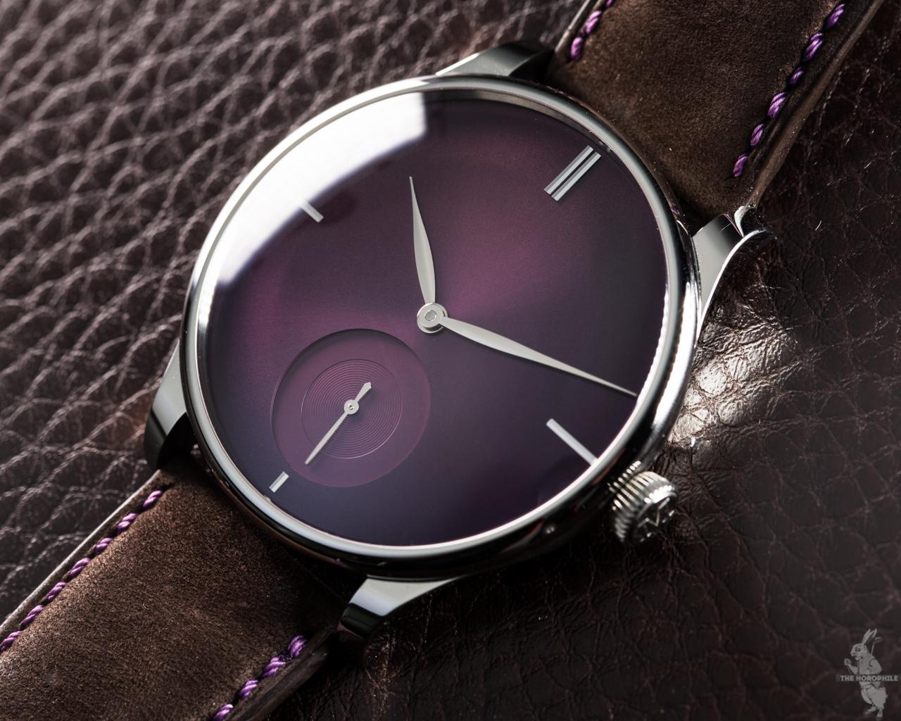The Horophile x H. Moser & Cie. Venturer Small Seconds XL Purple Haze