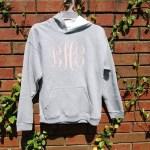 Monogrammed Sweatshirt Tutorial