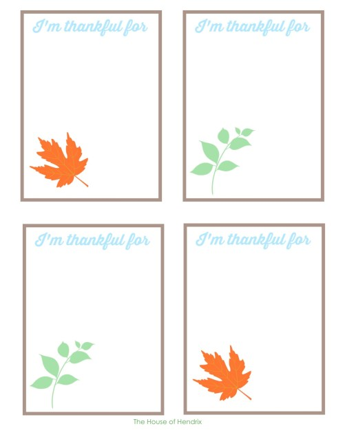 Use these 'I'm Thankful' cards to cultivate a heart of gratitude in November through a Thanksgiving Advent. Free Printables