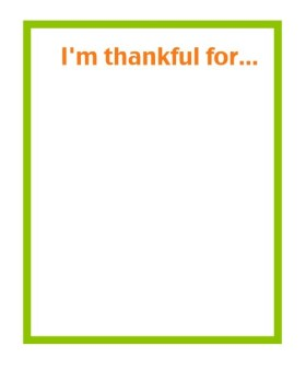 I'm Thankful cards - free Thanksgiving printables
