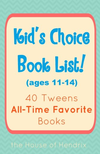 Love this list because it was created by kids! What would you add? |the House of Hendrix #booklist #middleschool #tween