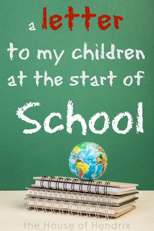 A letter and challenge to my children as they head back to school