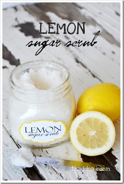 Lemon sugar scrub, last minute DIY Christmas gift!