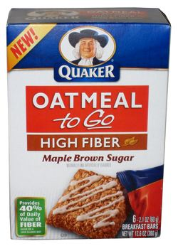 Quaker Oatmeal High Fiber Maple Amp Brown Sugar 12 6 Oz Instant Oatm ...