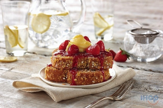 IHOP Lemon Strawberry Double Dipped French Toast