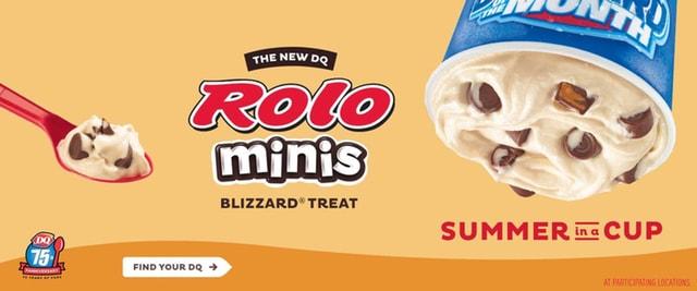 Dairy Queen Rolo Minis Blizzard