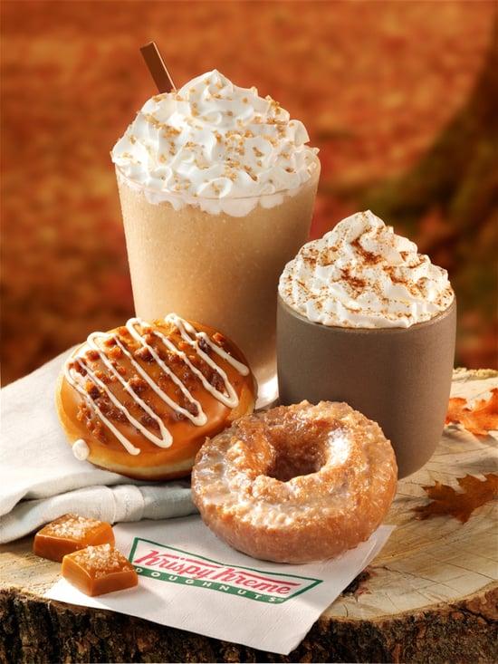 Krispy Kreme Salted Caramel Latte and Salted Caramel Latte Doughnut
