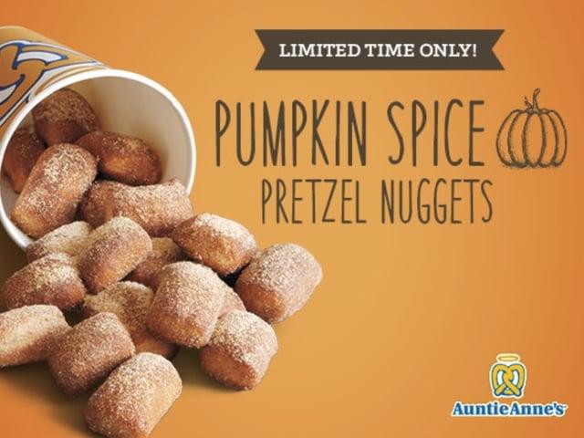 Auntie Anne s Pumpkin Spice Pretzel Nuggets