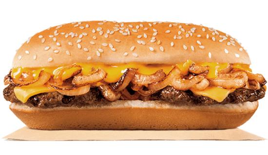 Burger King Extra Long Philly Cheeseburger