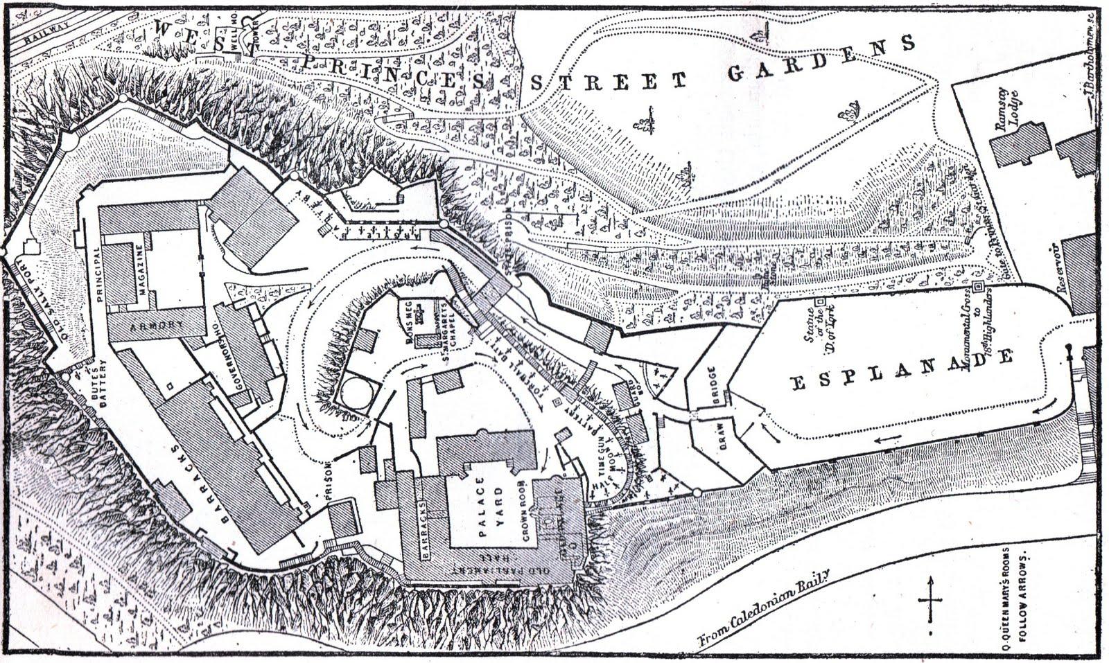 Free coloring pages of edinburgh castle for Castle design plans