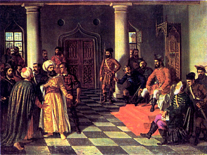 Vlad the Impaler and the Turkish Envoys by Theodor Aman