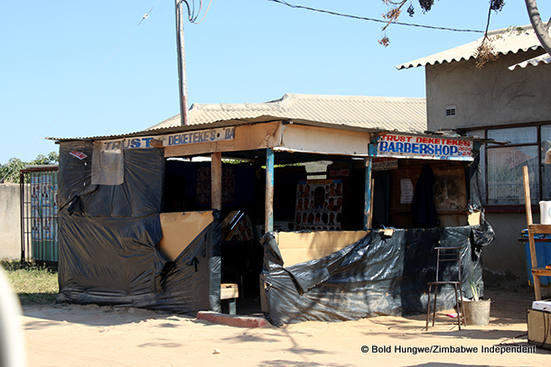 The barber shop near Dzamara's home where he was kidnapped by a group of unknown men in a getaway car.