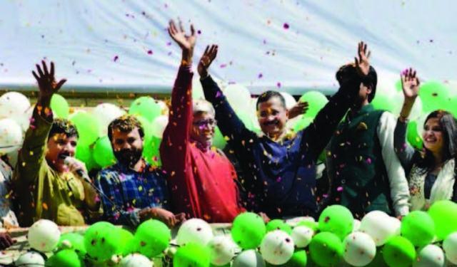 AAP TROUNCES BJP1