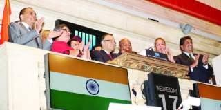 Indian Finance Minister Arun Jaitley rang the closing bell at New York Stock Exchange, June 17. Photos: Mohammed Jaffer-SnapsIndia